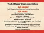 youth villages mission and values