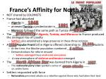 france s affinity for north africa