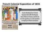 french colonial exposition of 1831