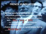 french humiliation