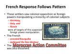 french response follows pattern