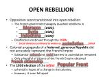 open rebellion