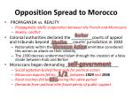 opposition spread to morocco