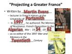 projecting a greater france1