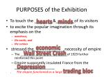 purposes of the exhibition