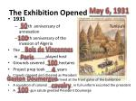the exhibition opened