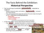 the facts behind the exhibition historical perspective