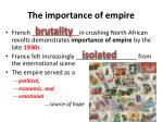 the importance of empire