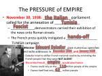 the pressure of empire