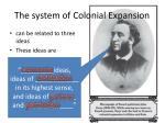 the system of colonial expansion