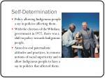 self determination