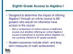 eighth grade access to algebra i