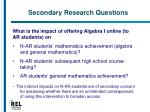 secondary research questions