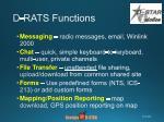 d rats functions