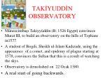 tak yudd n observatory