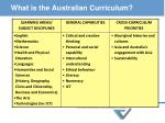 what is the australian curriculum
