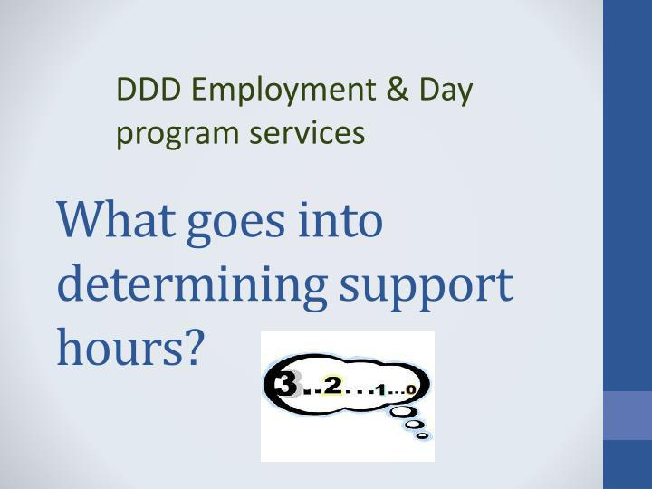 what goes into determining support hours n.