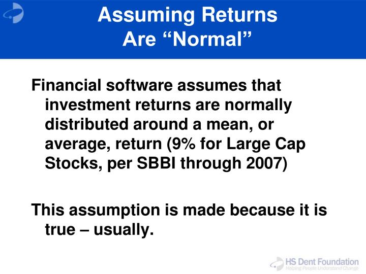 Assuming Returns