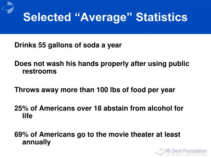 "Selected ""Average"" Statistics"