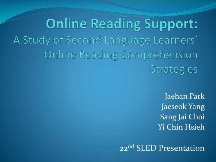 online reading support a study of second language learners online reading comprehension strategies n.