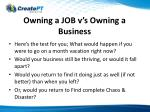 owning a job v s owning a business