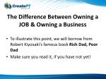 the difference between owning a job owning a business