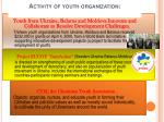 activity of youth organization
