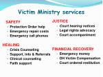 victim ministry services