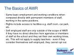 the basics of awr