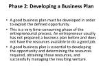 phase 2 developing a business plan