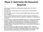 phase 3 determine the resources required