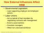 how external influences affect hrm2
