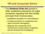 hr and corporate ethics1