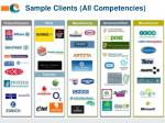 sample clients all competencies