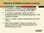 barriers pitfalls activity cont d