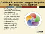 coalitions do more than bring people together they bring systems together