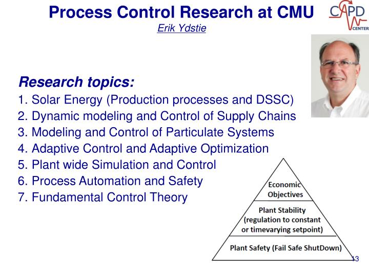 Process Control Research at CMU