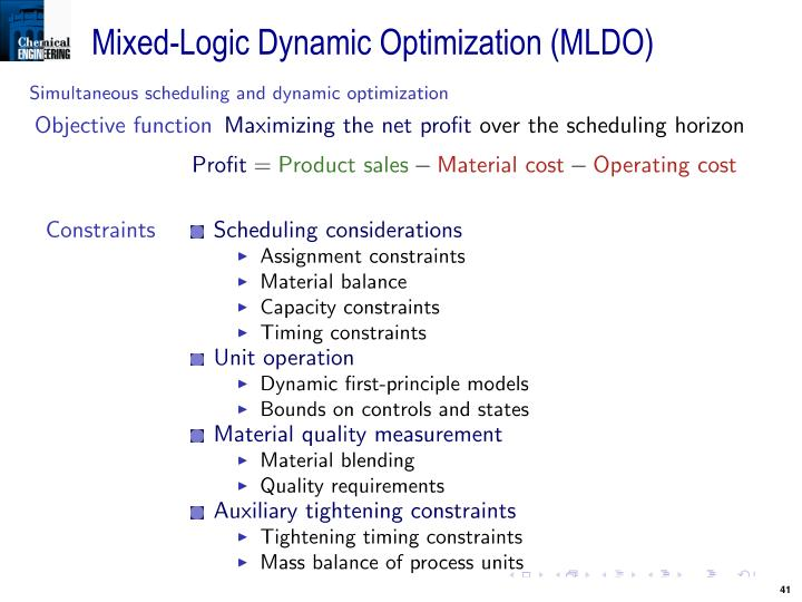 Mixed-Logic Dynamic Optimization (MLDO)