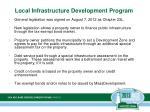 local infrastructure development program