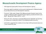 massachusetts development finance agency