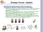 strategic thrusts updates