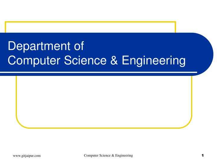 department of computer science engineering n.