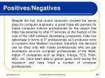 positives negatives