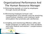 organizational performance and the human resource manager1