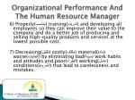 organizational performance and the human resource manager2