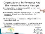 organizational performance and the human resource manager3