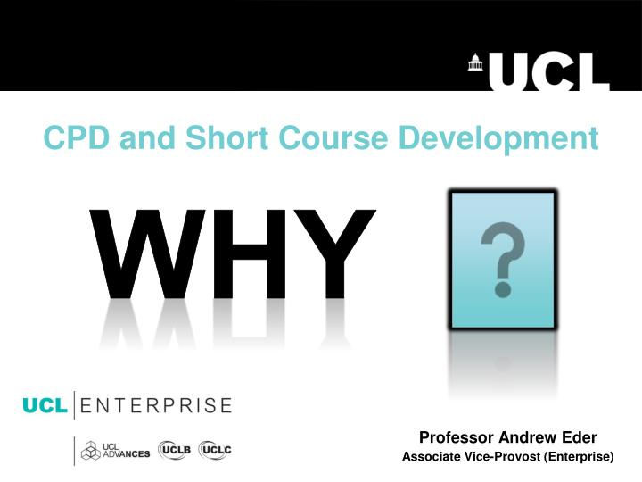 cpd and short course development n.