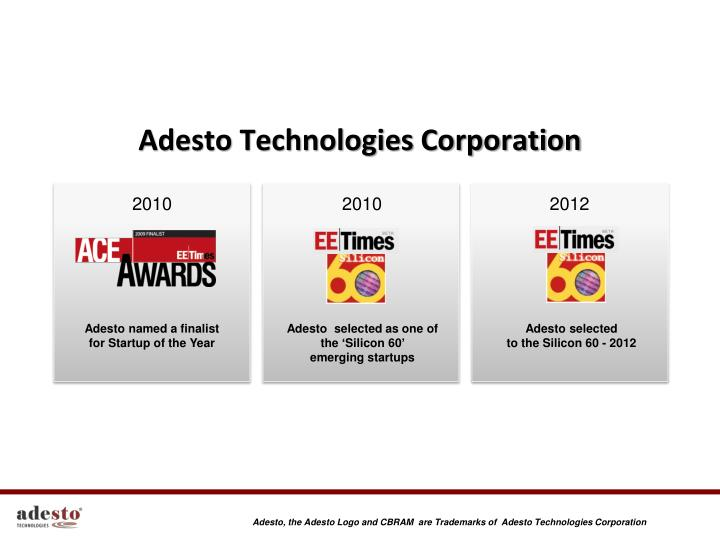 adesto technologies corporation n.