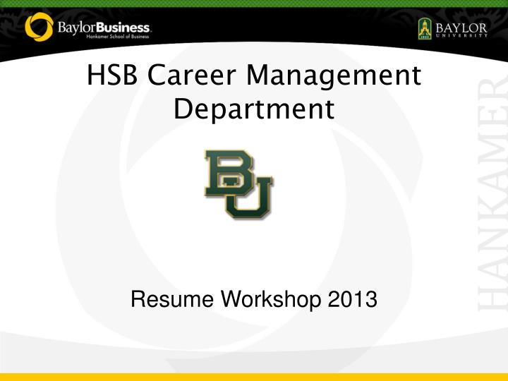 hsb career management department n.