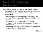 phase 5 plan design and development